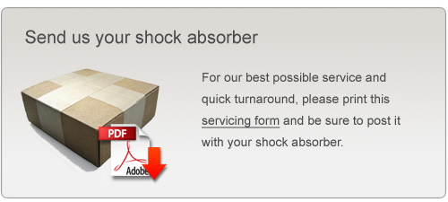 Send us your shock absorber